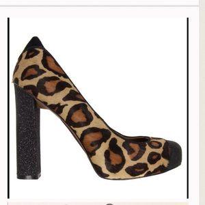 Sam Edelman Frances Calf Hair Leopard Print Heels